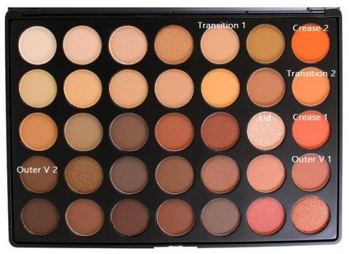 morphe 35O makeup
