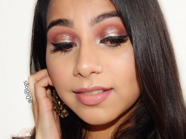 Pink Glittery Look